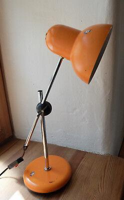 orange Tischlampe - 70er Jahre - 70s - tru Vintage - Leuchtenkopf verstellbar
