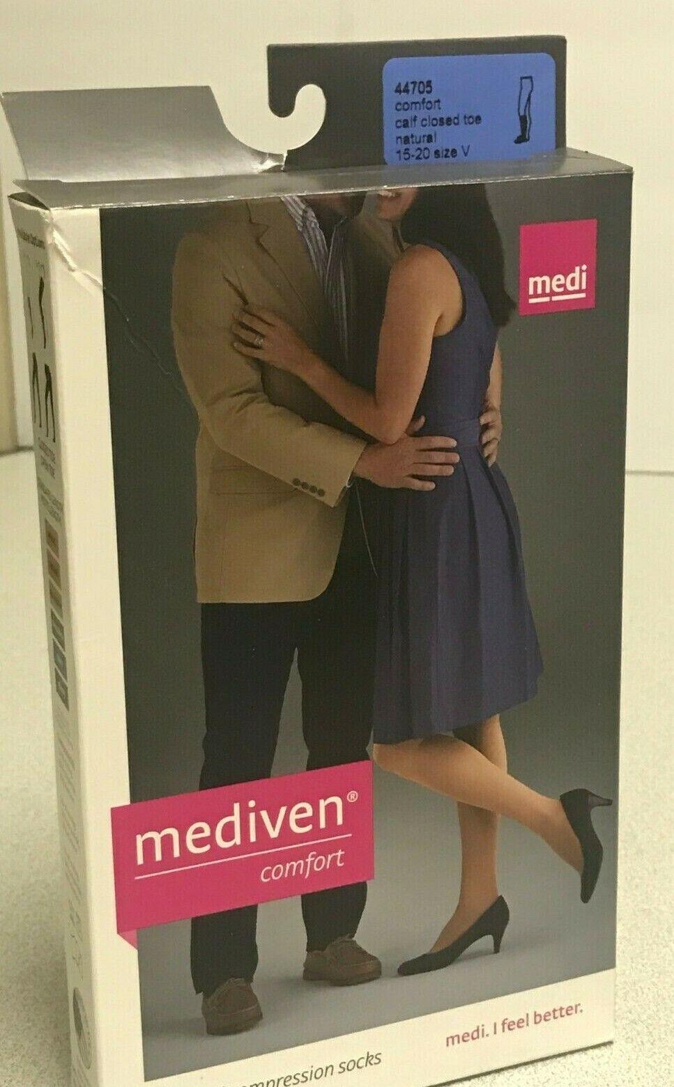 Mediven Comfort Compression Socks Calf Closed Toe 15-20 Natu