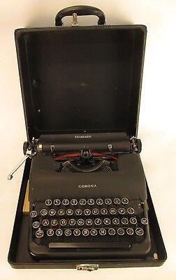 Vintage Smith Corona Standard Portable Typewriter 3C347410