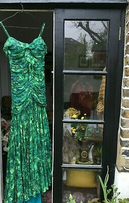 Jenny Packham Green Mermaid Dress & shawl - Atelier/showroom sample - Size 8/10