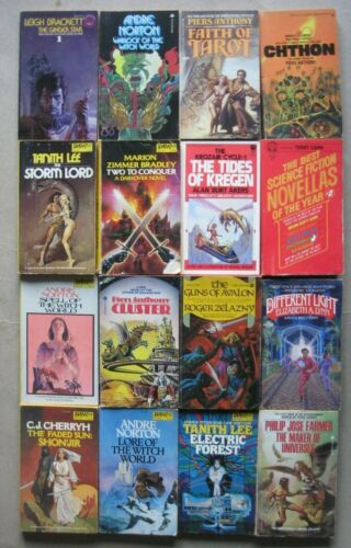 Lot of 32 Vintage Science Fiction Fantasy Paperbacks. Zelazny Anderson Norton
