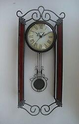 Howard Miller Carmen Wall Clock 625-326 Swinging Pendulum 20
