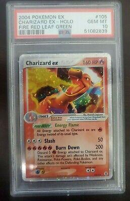 Pokemon PSA 10 GEM MINT Charizard ex 105/112 Fire Red Leaf Green Ultra Rare Holo