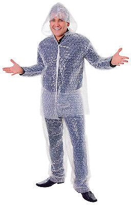 Erwachsene Unisex # Luftpolsterfolie Kostüm Party Witz Komplettes Outfit - Luftpolsterfolie Kostüm