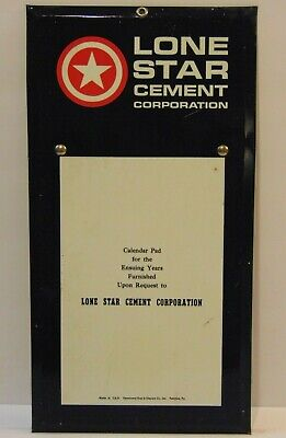 """Old Vintage 1960s Lone Star Cement Tin Metal Advertising Sign Made in USA 8""""x16"""""""