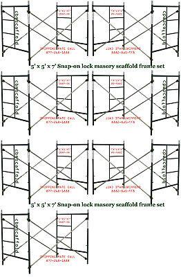 Seven Set Of 5 X 5 X 7 Heavy Duty Masonry Scaffolding Frame Set Cbm Scaffold