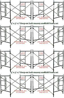 Eight Set Of New 5 X 5 X 7 Masonry Scaffolding Frame Set Cbm Scaffold