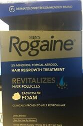 Men's Rogaine Foam Hair Regrowth Treatment Three (3) Month Supply 07/2020