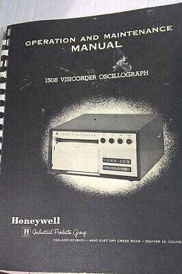 Honeywell 1508 Visicorder Oscillograph Operation Maintenance Manual