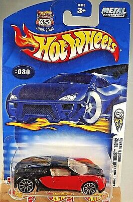 2003 Hot Wheels #30 First Editions 18/42  BUGATTI VEYRON Red/Black w/10 Spokes