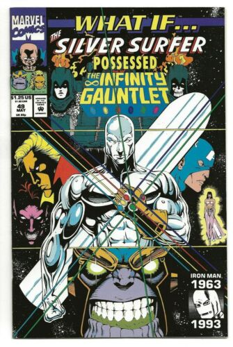 WHAT IF...? #49 [MAY 1993, MARVEL] SILVER SURFER POSSESSED INFINITY GAUNTLET NM+