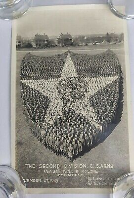"""Intrawars 1925 US Army 2nd Division Indian Head Insignia  11"""" x 7""""  Photograph"""