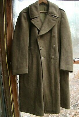 WWII WW2 US Army Wool Winter Overcoat Museum-quality 1945 Trench coat Size 38S