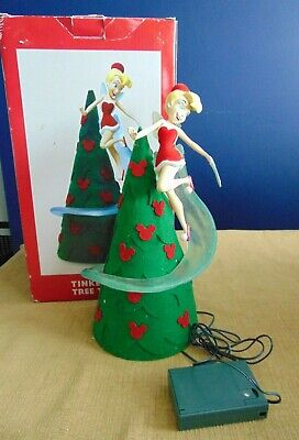 Disney Theme Parks Tinkerbell Light Up Tree Topper Christmas Fairy
