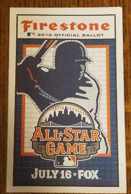 Two 2013 Mlb All Star Game Ballots Mint   New York Mets   Citi Field  2 Ballots