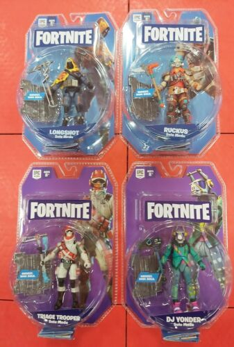 FORTNITE LOT OF 4 DIFFERENT 4 INCH ACTION FIGURES + ACCESSOR