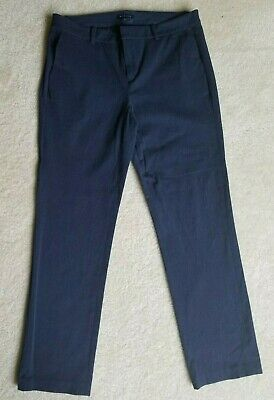 tommy hilfiger Sz 8 blue stretch straight slim belt loops pockets women's pants