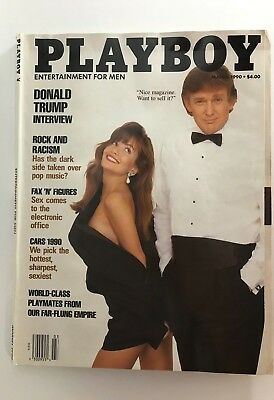 "PLAYBOY MARCH 1990 MAGAZINE  ""DONALD TRUMP"" VOLUME 37 NUMBER 3"