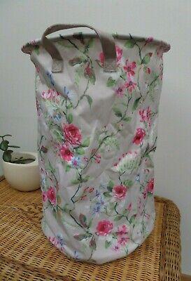 Floral Flower Storage Fabric Basket Bag Bin Kids Toys Laundry Organiser