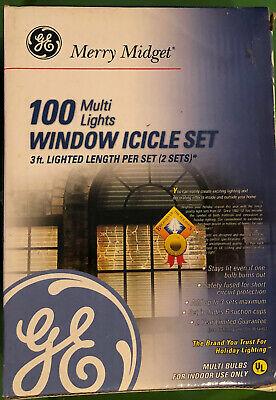 Merry Midget 100 Lights Window Icicle Set