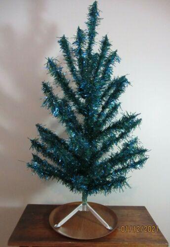 Vintage Blue / Green VINYL aluminum Tree 3