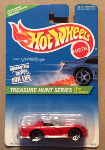 1996 Hot Wheels Treasure Hunt Dodge Viper RT/10 Red Limited Edition #6 of 12 For Sale - 1