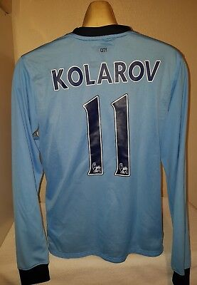 Manchester City football shirt jersey KOLAROV 2014 -2015 Large SERBIA   image