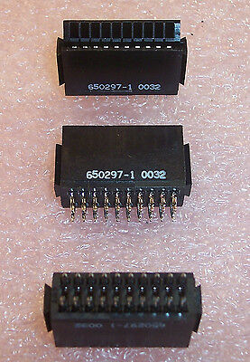 Qty 10 650297-1 Amp 10 Position 20 Pin Card Edge Connectors Nos