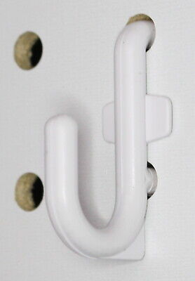 Plastic White J Hook Peg Board Hook Kit Tool Storage Craft Hooks Pick A Pack