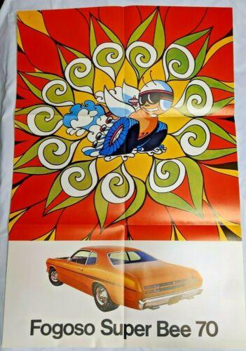 """1970 Dodge Super Bee Fogoso AutoMex Brochure Photo Poster 32""""X 22"""" Rare"""