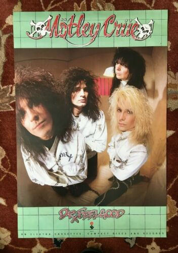 MOTLEY CRUE  Dr Feelgood  rare original promotional poster from 1989