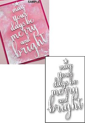 Memory Box MAY YOUR DAYS BE MERRY and BRIGHT Steel Craft Die 99847