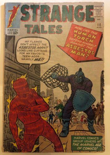 Strange Tales #111 2nd Doctor Strange 1st Baron Mordo Marvel GD/VG