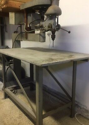 Drill Press Industrial Type 110v 3 Foot Arbor. Mfg. By Henry Lange Machine Works
