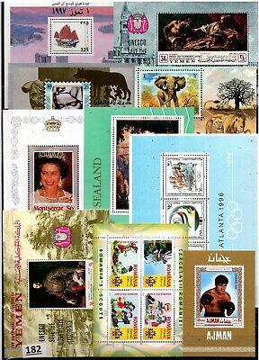 /// WHOLESALE - 10 S/S - MNH - ART, BOXING, SHIP, SCOUTS, ELEPHANT