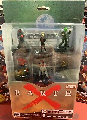 - Marvel Heroclix Earth X Starter Set Includes Map, Rules & 6 Figures / Cards