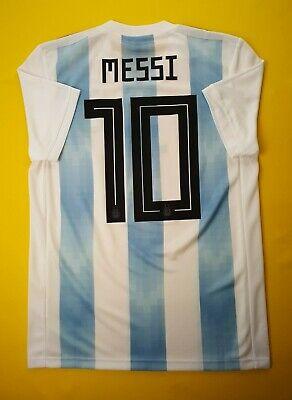 480ad01d9 4.9 5 Messi Argentina soccer jersey small 2018 home shirt BQ9324 Adidas ig93
