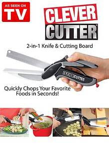 2-IN-1 Stainless Steel Clever Crazy Cutter Cutting Board Scissors Clayton South Kingston Area Preview