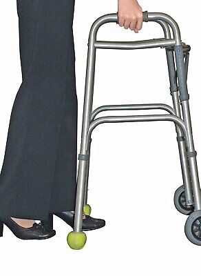 Drive Medical Deluxe Walker Rear Tennis Ball Glides Yellow connimoome
