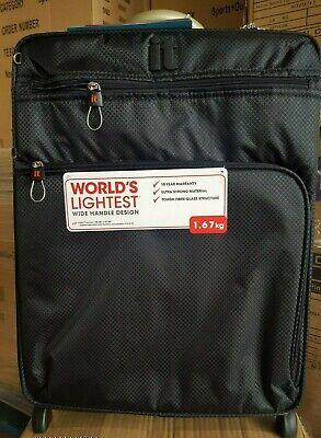 it luggage Worlds Lightest Cabin 2 Wheel Black Suitcase 55cm