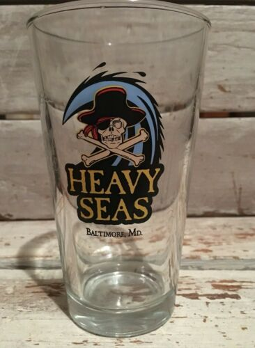 Heavy Seas Beer Glass Baltimore Maryland Great Graphics
