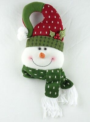 Snowman Door Hanger - Christmas Door Hanger Plush Snowman Holiday Decoration