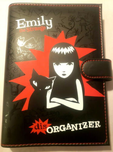 Emily the Strange ESP 2005 NEW Black disORGANIZER NEW OLD STOCK!