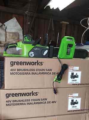 Greenworks 20312 G-MAX 40V 16 inch Li-Ion Cordless Chainsaw with 4Ah Battery