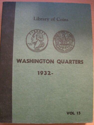 VINTAGE (USED) LIBRARY OF COINS WASHINGTON QUARTER ALBUM
