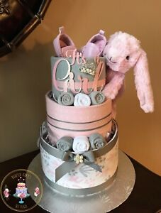 """ It's a Girl "" Diaper Cake / Baby Shower/ Baby Gift"