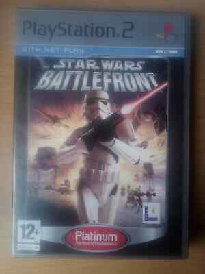 Star Wars Battlefront (PS2, 2005) PEGI 12+. Platinum. Lucas Arts.