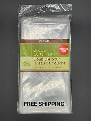 """⭐CLEAR SHOWER CURTAIN LINER 70"""" X 72"""""""
