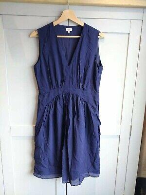 Hoss Intropia Dress Blue Silk Summer UK 12