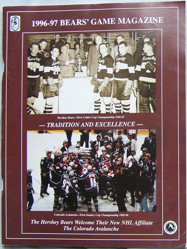 1996 Hershey Bears Vs Worcester Icecats Program 11-23-96